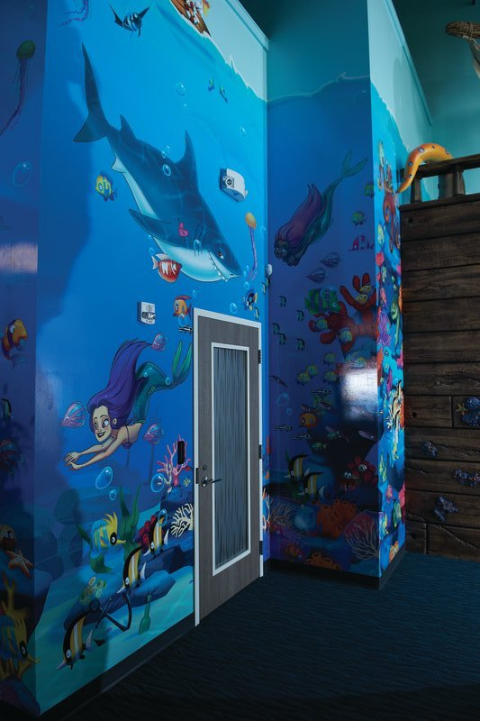 Interior structures at Tiny Teeth Pediatric Dentistry